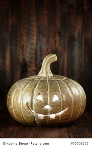 Halloween Pumpkin on Wood Grunge Rustick Background