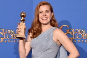 BEVERLY HILLS, CA - JANUARY 11:  Actress Amy Adams, winner of Best Actress in a Motion Picture – Musical or Comedy for 'Big Eyes,' poses in the press room during the 72nd Annual Golden Globe Awards at The Beverly Hilton Hotel on January 11, 2015 in Beverly Hills, California.  (Photo by Kevin Winter/Getty Images)
